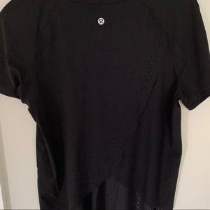 Black Lululemon workout shirt